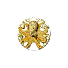 Gold Octopus Golf Ball Marker by vintage2030