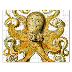 Gold Octopus Rectangular Jigsaw Puzzl
