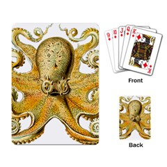 Gold Octopus Playing Card