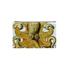 Gold Octopus Cosmetic Bag (small) by vintage2030