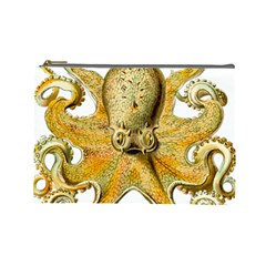 Gold Octopus Cosmetic Bag (large)