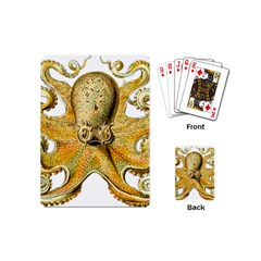 Gold Octopus Playing Cards (mini)