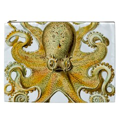 Gold Octopus Cosmetic Bag (xxl) by vintage2030