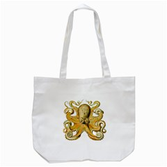 Gold Octopus Tote Bag (white)