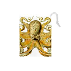Gold Octopus Drawstring Pouch (small)