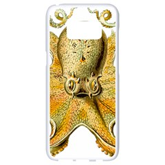 Gold Octopus Samsung Galaxy S8 White Seamless Case