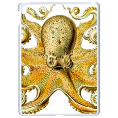 Gold Octopus Apple Ipad Pro 9 7   White Seamless Case by vintage2030