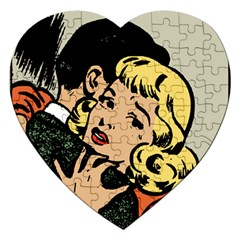 Hugging Retro Couple Jigsaw Puzzle (heart)