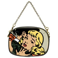 Hugging Retro Couple Chain Purse (one Side) by vintage2030