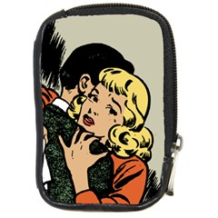 Hugging Retro Couple Compact Camera Leather Case by vintage2030
