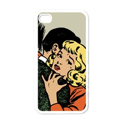 Hugging Retro Couple Apple Iphone 4 Case (white)