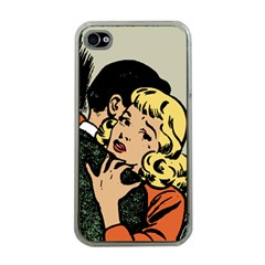 Hugging Retro Couple Apple Iphone 4 Case (clear)
