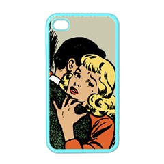Hugging Retro Couple Apple Iphone 4 Case (color)