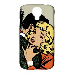 Hugging Retro Couple Samsung Galaxy S4 Classic Hardshell Case (pc+silicone)