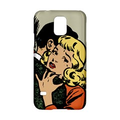 Hugging Retro Couple Samsung Galaxy S5 Hardshell Case  by vintage2030