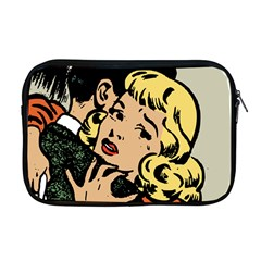Hugging Retro Couple Apple Macbook Pro 17  Zipper Case