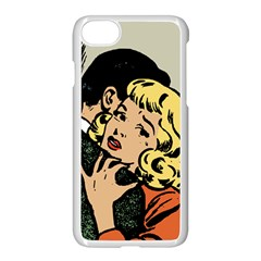 Hugging Retro Couple Apple Iphone 8 Seamless Case (white) by vintage2030