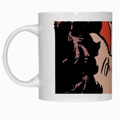Retrocouplekissing White Mugs