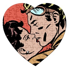 Retrocouplekissing Jigsaw Puzzle (heart)
