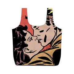 Retrocouplekissing Full Print Recycle Bag (m) by vintage2030