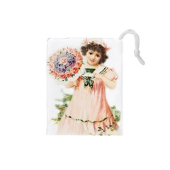 Girl 1731727 1920 Drawstring Pouch (small) by vintage2030
