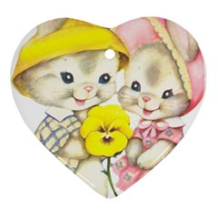 Rabbits 1731749 1920 Ornament (heart) by vintage2030