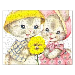 Rabbits 1731749 1920 Rectangular Jigsaw Puzzl by vintage2030