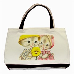 Rabbits 1731749 1920 Basic Tote Bag by vintage2030