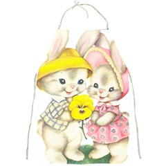 Rabbits 1731749 1920 Full Print Aprons by vintage2030