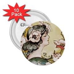 Lady 1650603 1920 2 25  Buttons (10 Pack)  by vintage2030