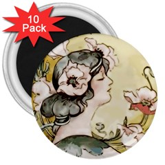 Lady 1650603 1920 3  Magnets (10 Pack)  by vintage2030