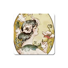 Lady 1650603 1920 Square Magnet