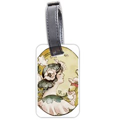 Lady 1650603 1920 Luggage Tags (one Side)  by vintage2030