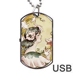 Lady 1650603 1920 Dog Tag Usb Flash (two Sides) by vintage2030