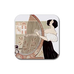 Woman 1503387 1920 Rubber Square Coaster (4 Pack)  by vintage2030