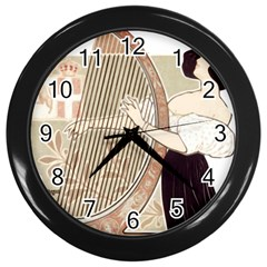 Woman 1503387 1920 Wall Clock (black) by vintage2030