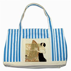 Woman 1503387 1920 Striped Blue Tote Bag by vintage2030