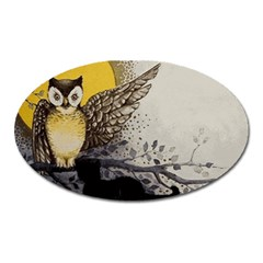 Owl 1462736 1920 Oval Magnet by vintage2030
