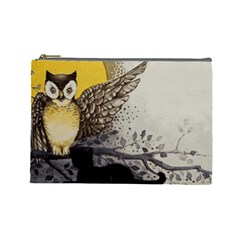 Owl 1462736 1920 Cosmetic Bag (large) by vintage2030