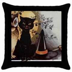 Owls 1461952 1920 Throw Pillow Case (black) by vintage2030