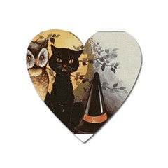 Owls 1461952 1920 Heart Magnet by vintage2030