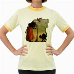 Witch 1461961 1920 Women s Fitted Ringer T Shirt by vintage2030
