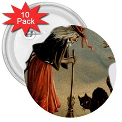 Witch 1461961 1920 3  Buttons (10 Pack)
