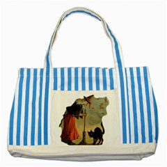 Witch 1461961 1920 Striped Blue Tote Bag