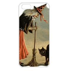 Witch 1461961 1920 Apple Iphone 5 Seamless Case (white) by vintage2030