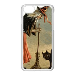 Witch 1461961 1920 Apple Iphone 8 Seamless Case (white) by vintage2030