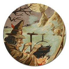 Witch 1461958 1920 Magnet 5  (round) by vintage2030