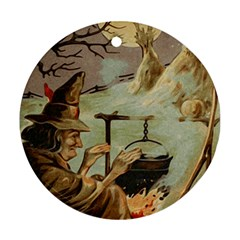 Witch 1461958 1920 Round Ornament (two Sides) by vintage2030