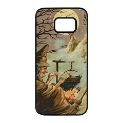 Witch 1461958 1920 Samsung Galaxy S7 Edge Black Seamless Case