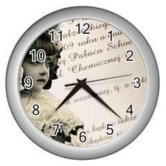 Child 1334202 1920 Wall Clock (silver)